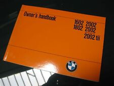 BMW 2002 2002tii NEW Owner's Manual / 1974-76 Perfect!