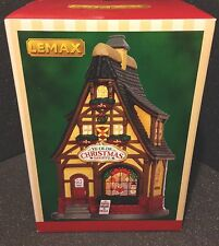 Rare Lemax Christmas Shop Olde Town Lighted Up Store Village Decoration Set