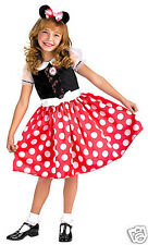 Classic Red Minnie Mouse Costume M 7/8 Girl Child Kid Dress Up Halloween