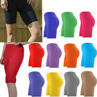 WOMENS LADIES CYCLING SHORTS ACTIVE CASUAL DANCING SHORTS LYCRA LEGGINGS SHORTS