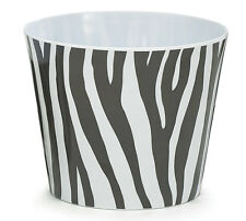 # 6 BLACK & WHITE ZEBRA PRINT MELAMINE POT COVER Plants Home Decor