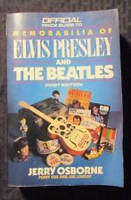 1988 Official Price Guide ELVIS & BEATLES by Jerry Osbourne 1st Ed. VG-