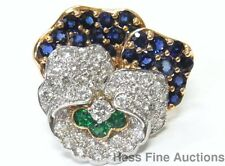 Finest Tiffany Platinum Diamond Sapphire Emerald Signed Numbered Pin Ever