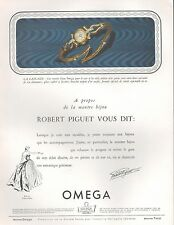 ▬► PUBLICITE ADVERTISING AD MONTRE WATCH OMEGA Robert PIGUET La Cascade