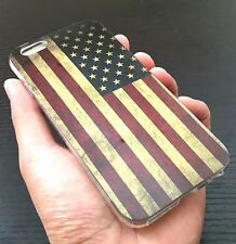 For iPhone 6 / 6S - HARD TPU RUBBER SKIN CASE COVER RED BLUE USA AMERICAN FLAG