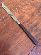 VTG Old Fashioned Wood Handle Stainless Steel Can Bottle Opener Japan