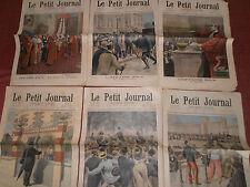 LOT 6 PETIT JOURNAL- 1898 affaires DREYFUS  / ZOLA ( ref 22 )