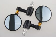"""MOTORCYCLE CNC 3"""" ROUND 7/8"""" HANDLE BAR END MIRRORS CAFE RACER BOBBER CLUBMAN"""