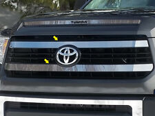 2PC STAINLESS STEEL FRONT GRILLE TRIM FITS 2014 2015 2016 TOYOTA TUNDRA