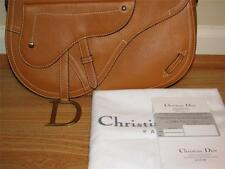 "RARE CHRISTIAN DIOR ""FAMOUS LONG STRAP LARGE SADDLE BAG""  W/ CARDS, DUST BAG"