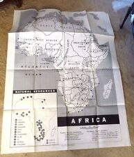 HUGE MAP US ARMED FORCES CARTOON MAP ITALY AFRICA AFRICAN COLONIES AMAZING 1951