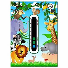 Jungle Animals Baby Nursery Room Thermometer - Using New Easy Read technology