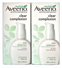 Aveeno Active Naturals Clear Complexion Daily Moisturizer 07/2017 4 oz. Lot of 2