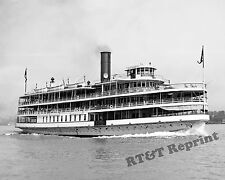 Photograph Detroit Excursion Steamer Columbia Bob Lo Boat 1908c  8x10
