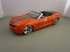 JADA 1/24 BIGTIME MUSCLE ORANGE 2007 CHEVY CAMARO CONVERTIBLE CONCEPT NEW NO BOX