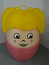 GIRL'S STEP 2 LITTLE TIKES BLONDE PIG TAIL GIRL TOY BOX CHEST VINTAGE~ RARE HTF