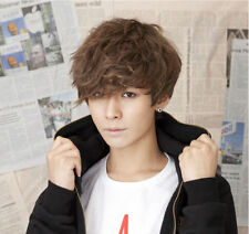 Hot Handsome Boys Wig Korean Fashion Short Men Hair Cosplay Wigs + free wig cap