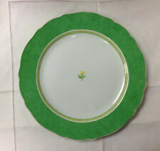 """HUTSCHENREUTHER SUMMERDREAM GREEN SERVICE PLATE 12"""" PORCELAIN NEW  GERMANY"""