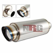 """4 inch 4"""" outlet Burn Slant Tip Stainless steel Exhaust Muffler 2.5 inlet"""