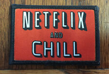 Netflix and Chill Morale Patch  Funny Tactical Milspec Molle