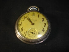Old Vtg 1945 Ingram Bristol Chrome Pocket Watch Made In the USA