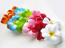 "12 Assorted Hawaiian Plumeria Frangipani 3"" Artificial Silk Flower Head Wedding"