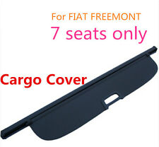 Black Rear Trunk Cargo privacy Cover Shield 7-PASS for Fiat Freemont 2012-2014