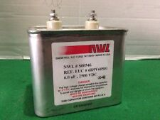 New NWL High Voltage Capacitor S00546 6.0 uF 2500VDC Free Expedited Shipping