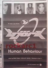 """BJORK Human Behaviour 1993 UK Press ADVERT 10x8"""""""