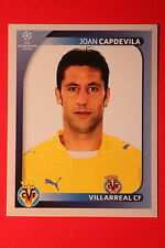 PANINI CHAMPIONS LEAGUE 2008/09 # 521 VILLAREAL CF CAPDEVILA BLACK BACK MINT!
