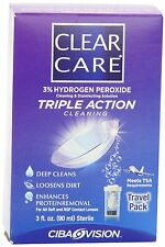 Clear Care One Bottle Cleaning & Disinfecting Solution, 3 Oz, lens case EXP 8/16