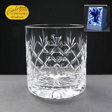 Personalised Cut Crystal Whiskey/ Spirit Glass, Best Man Gift, Satin Gift Box
