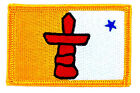 FLAG PATCH PATCHES NUNAVUT PROVINCIAL IRON ON EMBROIDERED SMALL CANADA