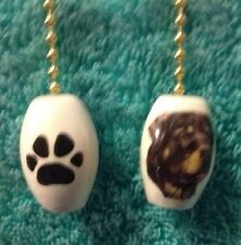 """One Rottweiler Dog Fan Pull With Paw Prints On The Back 1"""""""