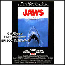 Fridge Fun Refrigerator Magnet JAWS MOVIE POSTER Version A 70s retro