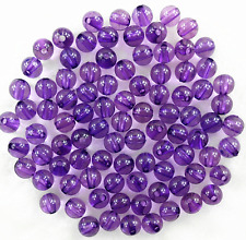 200Pcs 6mm transparent Purple Acrylic Round Spacer Loose Beads Free Ship
