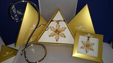 SWAROVSKI SCS WEIHNACHTSSTERN ORNAMENT 3er SET GOLDEN SHADOW 2015 NEU 5135951