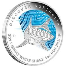 2011 Discover Australia, Dreaming Series, Great White Shark, 1oz Silver Proof