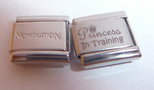 PRINCESS IN TRAINING 9mm Italian Charm + 1x Genuine Nomination Classic LOVE MY