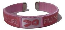 Fight Find The Cure Breast Cancer Awareness Pink Ribbon Wristband Bracelet Band