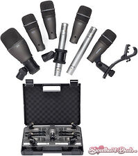 Samson DK707 7-Piece Drum Microphone Recording Kit w/ Q72 Q71 C02