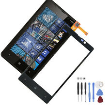 Nokia Lumia 820 Touch Screen Digitizer Display Glas Scheibe Schwarz +Werkzeug