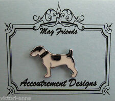 Accoutrement Designs Black & White Dog Needle Minder Magnet Mag Friends