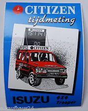 Aufkleber ISUZU TROOPER 4x4 Citizen Timekeeper 80er Jahre Sticker Autocollant