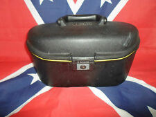 Super Negro Samsonite Vanity Funda Con Amarillo Trim-Hard Body ~ Make Up Box