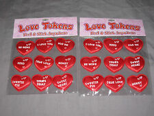 Plush Heart Stickers Love Sayings Valentine's Day Holiday Special NEW!