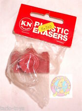 PHOTO CAMERA red  80s Plastic eraser Denmark - rubber, gomma, gommina misb