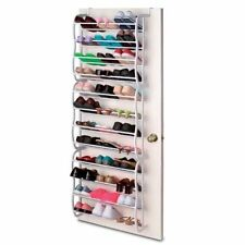 Brand New 36 Pair Over Door Hanging Shoe Rack 12 Tier Shelf Storage Stand Home