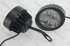 Motorcycle Mirror Mount LED Driving Fog Spot Light For Victory Benelli Aprilia