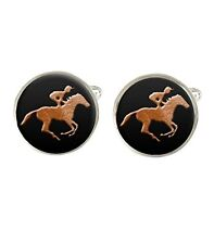 Horse Racing Mens Cufflinks Ideal Wedding Birthday Fathers Day Gift C397